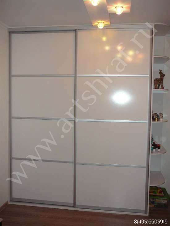 Шкаф купе белый глянец фото